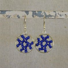 Abstract Beaded Earring - Blue
