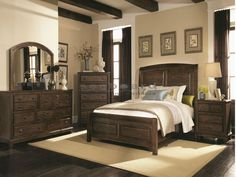 The Laughton collection offers an inspired approach to modern country style. Constructed of solid wood and select veneers in a cocoa brown finish the had distressing warrants a casual style.