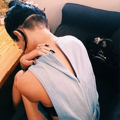 Kylie Jenner shaved the back of her head for her birthday!