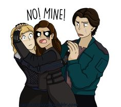 Clarke & Lexa & Finn #clexa