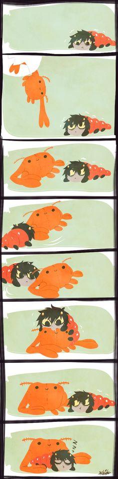Crab plush and Karkat grub