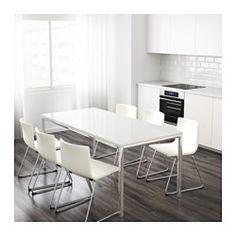 TORSBY Pöytä, kromattu, korkeakiilto valkoinen - IKEA