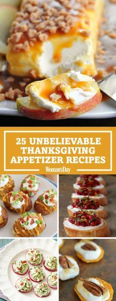 Your guests will have a lot to be thankful for when they try these delectable Thanksgiving appetizers. Make caramel apple cream cheese spread or crispy loaded Hasselback potato bites for your Thanksgiving dinners this year. Thanksgiving Appetizers, Thanksgiving Menu, Appetizers For Party, Appetizer Recipes, Appetizer Ideas, Easy Holiday Appetizers, Holiday Appitizers, Delicious Appetizers, Party Snacks