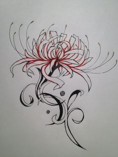 spider lillies - my favorite wildflower! What a great idea for a tattoo!