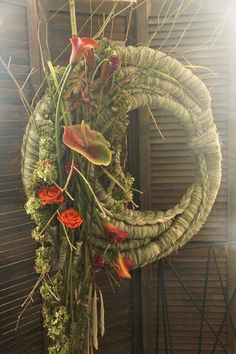 Art Floral, Floral Design, Colors And Emotions, Flower Pictures, Ikebana, Flourish, Grapevine Wreath, Garden Art, Floral Arrangements