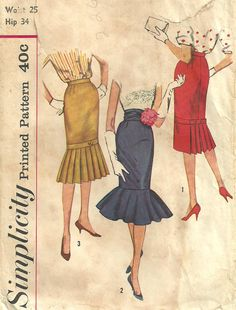 Vintage 50s Sewing Pattern Simplicity 2813 by studioGpatterns, $16.50