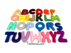 Ready to ship  Felt alphabet for child  Easy to by TsvitanaLove
