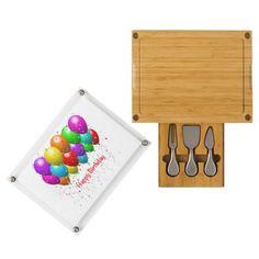 Happy Birthday Balloons Cheese Board