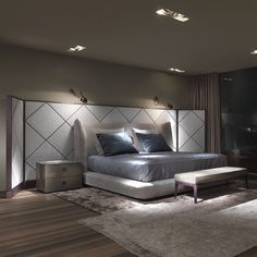 Midnight bed, design by Roberto Lazzeroni for Flexform., made in Italy. #beautifullifestyle