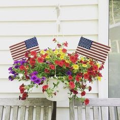 How cute are these Pottery Barn American flags?