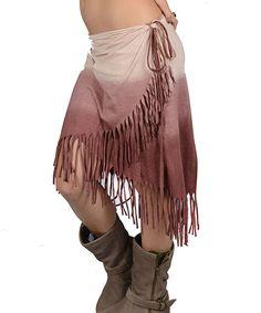 Look at this #zulilyfind! Mocha Ombré Wrap Skirt by Jayli #zulilyfinds