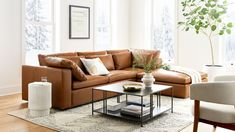 Harmony Modular Leather 3-Piece Chaise Sectional | West Elm