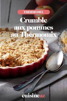 Une recette au Thermomix de dessert automnal par excellence: le crumble aux pommes. #recette#cuisine #patisserie #crumble #pomme #fruit #robot #robotculinaire #thermomix Robot, Desserts, Cooking Recipes, Apples, Tailgate Desserts, Deserts, Postres, Dessert, Robots