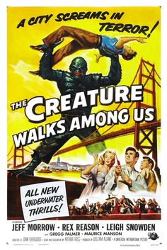The Creature Walks among Us posters for sale online. Buy The Creature Walks among Us movie posters from Movie Poster Shop. We're your movie poster source for new releases and vintage movie posters. Horror Movie Posters, Classic Movie Posters, Movie Poster Art, Cinema Posters, Classic Monster Movies, Classic Horror Movies, Science Fiction, This Is Us Movie, Horror Monsters