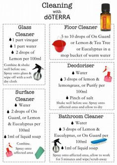 Cleaning blends