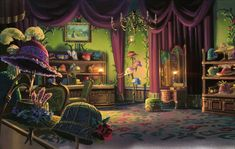 lyriumnug:Howl's Moving Castle background design.