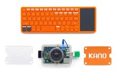 Kano Kit—build your own computer for kids. Uses Raspberry Pi system.