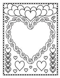 valentine hearts blank coloring pages printable and coloring book to print for free. Find more coloring pages online for kids and adults of valentine hearts blank coloring pages to print. Saint Valentine, Valentine Heart, Valentine Crafts, Valentine Day Gifts, Blank Coloring Pages, Heart Coloring Pages, Coloring Books, Valentines Day Coloring, Valentines Day Activities
