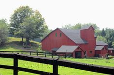 A Perfect Place in a Perfect Place - Original Photograph  - Old Rustic Red Barn - Counrty Living. $25.00, via Etsy.