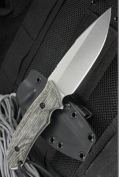 Attleboro Fixed Tactical Knife Blade Battle Knife Fixed Blade w Black Sheath (4.5 Stonewash)
