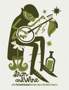 Iron and Wine Concert Poster by Furturtle Printworks