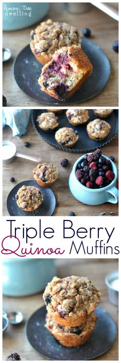 Triple Berry Quinoa Muffins – Lemon Tree Dwelling