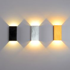Modern LED Minimalist Cube Aluminum Wall Light in Black/Silver/Gold - Lighting