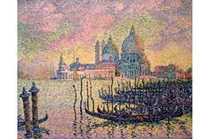 Paul Signac (French, 1863–1935), Entrance to the Grand Canal, Venice. Oil on canvas, 1905. 28 15/16 x 36 1/4 in. (73.5 x 92.1 cm.) Toledo Museum of Art.