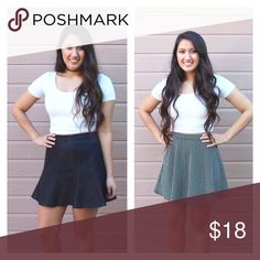 Bundle of 2 Skirts 2 skirts, 1 price. Both PreLoved. Left one is a faux leather with a zipper. Size medium. One on the right is polkadot, textured and with a zipper. Size medium. Both not stretchy. I'm 5'3, normally wear a small (size 26) and these fit big. ❤❤WILL SHIP SAME DAY❤❤ •PRICE FIRM• •No Trades•   Interested in FREE SHIPPING? Check out my Instagram for more info: @JackLagPosh Boutique Skirts