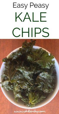Easy Peasy Kale Chips - Salt and Vinegar Style - Oh Lardy!