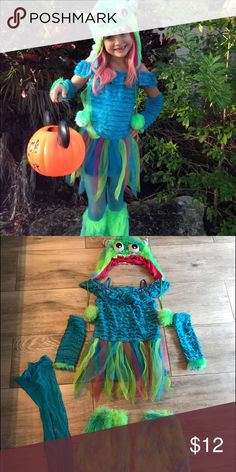 Cute monster costume Girls cute monster costume, size S. Costumes Halloween