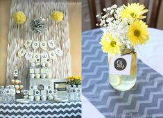 Yellow and Grey Baby Shower Ideas | So that's a wrap on the gray and yellow baby shower decorations !