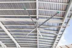 Industrial Ceiling Fans 101 2017– Everything you need to know    Industrial ceiling fans are large, powerful ceiling fans designed for use in large spaces such as warehouses, shopping malls, manufacturing plants, theatres, airports and large commercial