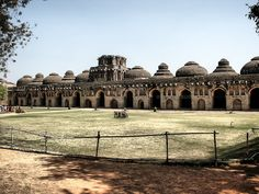 https://flic.kr/p/Q3MTNA   Elephant House   Hampi, India.  This impressive building was used to house 11 royal elephants each in its own separate dwelling.  #Architecture #Colour #Photography  www.richardsugden.com  © Richard Sugden 2016 All rights reserved.