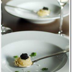 Little Spoon Appetizer - Capellini with Caviar
