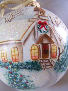 Christmas ornament Glass Ornament Round ball Ornament