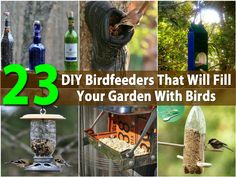 23 DIY Birdfeeders That Will Fill Your Garden With Birds via @vanessacrafting