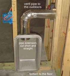 Wall Recessed Laundry Feed Drain Plumbing Lines And