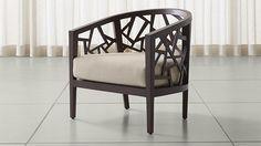 Ankara Truffle Frame Chair with Fabric  Cushion | Crate and Barrel