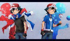 Ash Pokemon, Pokemon Ash Ketchum, Pokemon Ash And Serena, Pokemon Comics, Pokemon Fan, Pokemon Stuff, Satoshi Pokemon, Dark Ash, One Punch Man