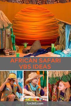 African Safari VBS Theme Ideas Need a VBS theme? Transform your VBS classroom into an African Safari. See all the ideas here! Safari Party, Safari Theme, Jungle Theme, African Theme, African Safari, African Animals, Bear Grylls, Vbs Themes, Theme Ideas