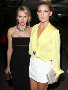 Um, can we please have their outfits? Naomi Watts and Kate Hudson celebrate BVLGARI 130 years with Decades Of Glamour in West Hollywood.