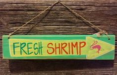 A personal favorite from my Etsy shop https://www.etsy.com/listing/198080169/reclaimed-wood-colorful-fresh-shrimp