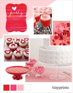 Valentine's Day is just around the corner. Start your party planning with some bold and fun inspiration from today's Valentine's Day party inspiration board on the Tiny Prints blog. #valentines #ontheblog