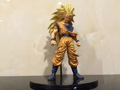 Action & Toy Figures 42cm Anime Dragon Ball Z Super Saiyan Golden Hair Son Goku Action Figure Pvc Classic Collection Figure Model Gaarage Kit Toy Pretty And Colorful