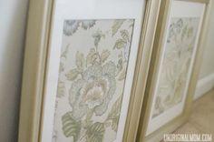 Use cloth napkins to create inexpensive wall art - perfect for staging a house to sell!     unOriginalMom.com