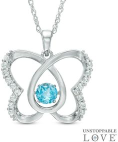 Zales Marquise-Cut Lab-Created Amethyst and Blue Topaz Butterfly Pendant in Sterling Silver 4ldSlwi