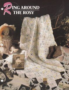 Ring Around The Rosy, Annie's Crochet Quilt and Afghan Pattern Club Leaflet 02-1-03 with Unique Tassel Doll Edging