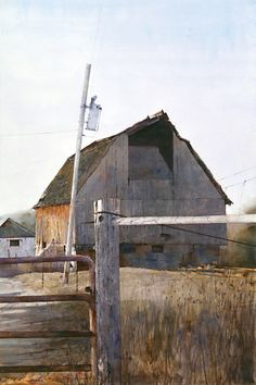 Dean Mitchell - Artist, Fine Art Prices, Auction Records for Dean . Country Barns, Old Barns, Art Watercolor, Watercolor Landscape, Dean Mitchell, Farm Paintings, Watercolor Architecture, Heritage Museum, Covered Bridges