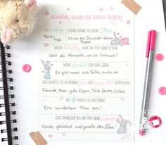 Gästebuch für die Taufe, Wünsche und Ratschläge - feenstaub.at | SHOP Baby Party, Gender Neutral, Gender Reveal, Handicraft, First Birthdays, Happy Birthday, Bullet Journal, Baby Shower, Advent